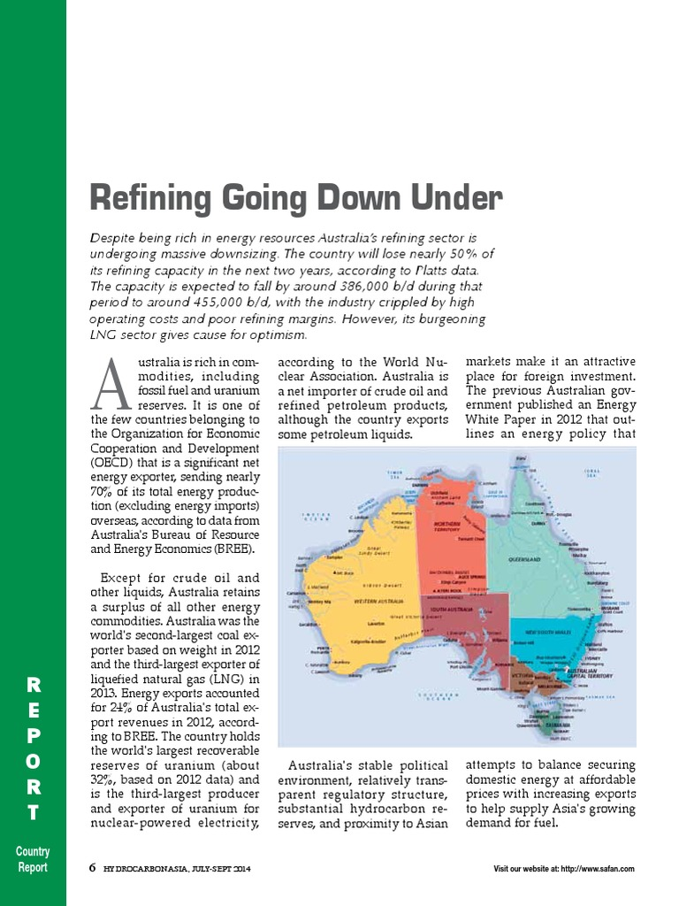 Refining Going Down Under | Liquefied Natural Gas | Petroleum