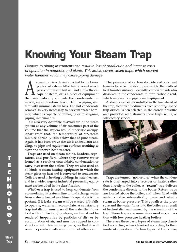 Knowing Your Steam Trap   Steam   Valve