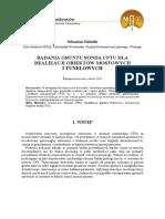 Badania Gruntu Sondą CPTU Dla Realizacji Obiektów Mostowych i Tunelowych