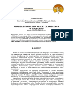 Analiza Dynamiczna Kładki Dla Pieszych w Malborku