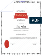 Printable Certificate of Participation