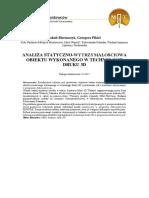 Analiza Statyczno-wytrzymałościowa Obiektu Wykonanego w Technologii Druku 3D
