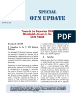Special OTN Update (Towards the December 2009 Ministerial - Issues in the Doha Round) 2009-11-27