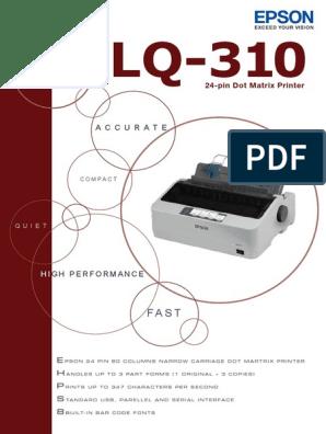 Lq 310 Printer Computing Office Equipment