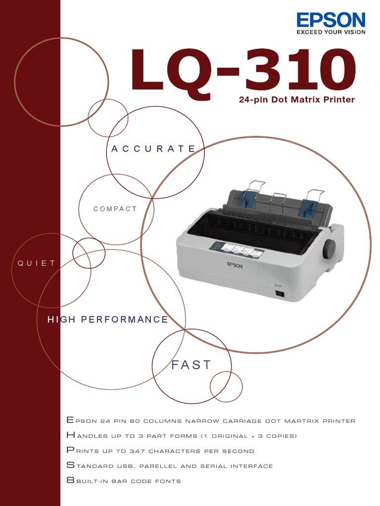Lq 310 Printer Computing Office Equipment Epson Lq310