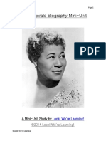 Ella Fitzgerald Biography Mini Unit