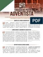 Folleto 1914 Verdadero Pueblo Adventista Ultimo