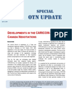 Special OTN Update (Developments in the CARICOM-Canada Negotiations) 2010-04-01