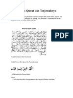 Bacaan Doa Qunut Dan Terjemahnya