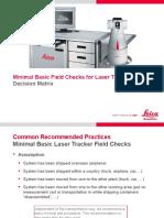 2005-07-18 Basic Field Checks for Laser Tracker System.ppt