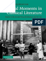 Richard Hunter Critical Moments in Classical Literature Studies in the Ancient View of Literature and Its Uses
