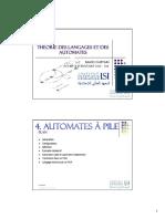 TLA - CH04 - Automates à Pile