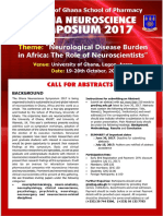 Ghana Neuroscience Symposium 2017 - Neuroscience Disease Burden in Africa