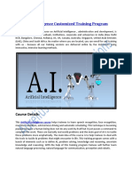 Artificial Intelligence Customized Training Program