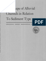 The Shape of Alluvial Channels in Relation to Sediment Type_1960