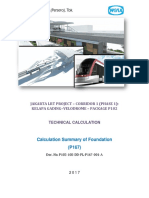 Calculation Summary of Pile Foundation