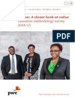 PwC Valuation Methodology Survey 2015