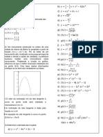 Lista Questões Derivadas - Cálculo 1