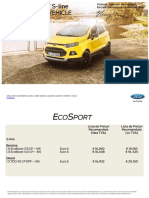 Lista de Preturi Noul Ford EcoSport S-line
