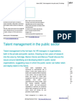 6 Artikel Talent Management in the Public Sector