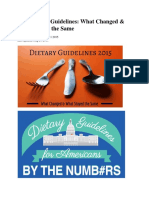 New Dietary Guidelines