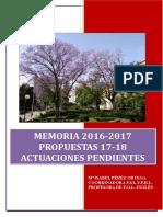 Memoria Actividades 2016_ 2017