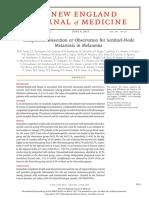 Completion Dissection or Observation for Sentinel-Node Metastasis in Melanoma