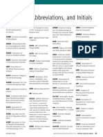 Acronyms Used in Pharmaceutical Field