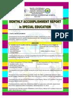 Accomplishment Reports Data
