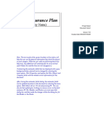 Master QA Plan Word Template Free Download