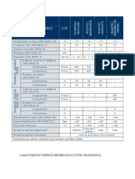Caracteristici Tehnice Membrane PLUVITEC PROFESIONAL