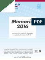 Memoria FCIHS 2016