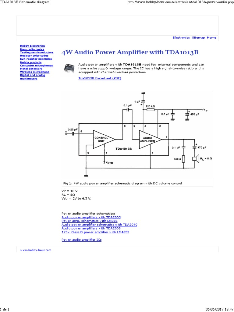 More Power Audio Amplifier Schematics With Tda2040 Tda1013b Tda2005 1187 Remington Diagram Http Wwwadaru Guns Exploded Remington1187 4w Rh Scribd Com