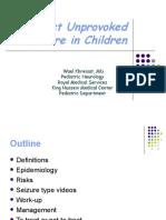 First Unprovoked Seizure in Children