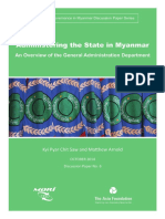 Administering the State in Myanmar