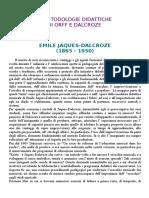 Le Metodologie Didattiche Di Orff E Dalcroze