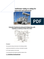 Select a Transformer Sizing or Rating for Commercial and Industrial