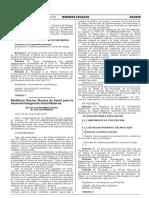 Modifican Norma Tecnica de Salud Para La Atencion Integral d Resolucion Ministerial No 670 2015minsa 1304262 2