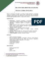 Programa Limba Engleza