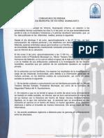 Comunicado de Prensa - Presidencia Mpal. de Victoria