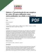 Síntese e Caracterização de um complexo de cobre (II) para utilização como eletrocatalisador em célula a combustível