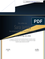 Workshop Participation Certificate