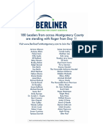 Berliner List of Supporters