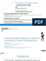 Improving SOAR Applications With the Essentials of Trauma Informed Care
