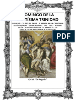 GUÍA DE  LOS FIELES PARA LA SANTA MISA CANTADA Domingo de la Santísima Trinidad Kyrial Angelis 2017