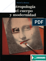 Antropología Del Cuerpo y Modernidad