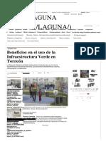 Beneficios en El Uso de La Infraestructura Verde en Torreón - Grupo Milenio