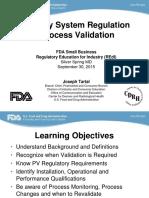 Qsr Process Validation