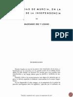 La Guerra de La Indepencencia en Murcia