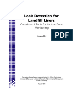 Leak Detection Landfill Liners Tools for Vadose Zone Monitoring